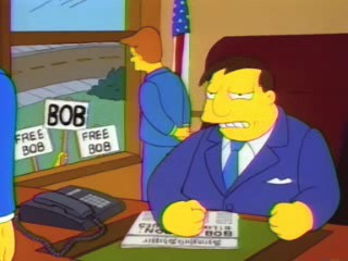 The Simpsons' Mayor Quimby in episode